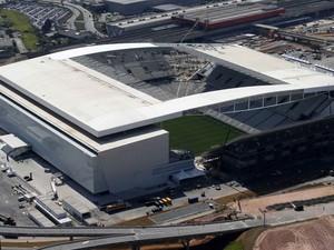 Arena Corinthians, em Itaquera, vai receber o jogo de abertura da Copa do Mundo entre Brasil e Croácia (Foto: Paulo Whitaker/Reuters)