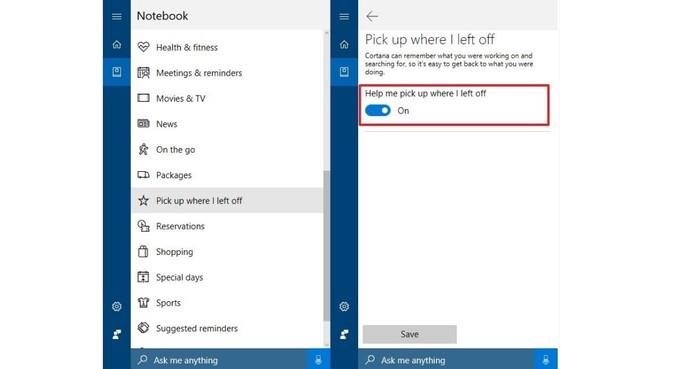 Recurso permite voltar de onde parou (Foto: Divulgação/Microsoft)