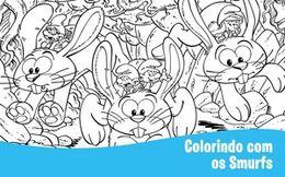 [Especial Os Smurfs] Colorindo