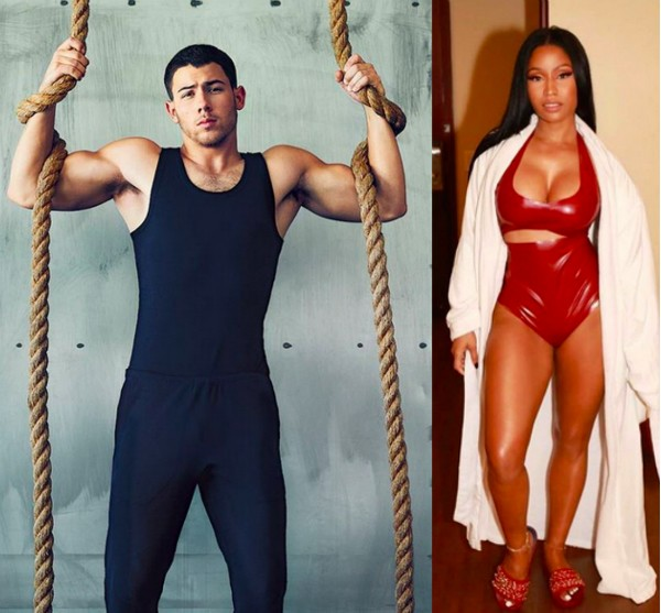 Nick Jonas e Nicki Minaj (Foto: Instagram)