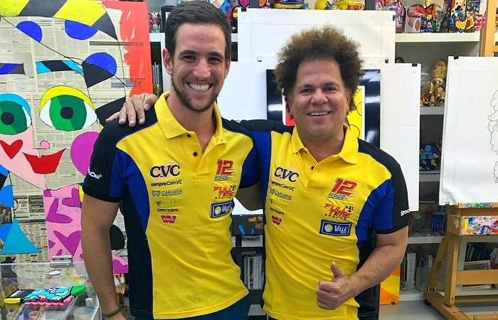 Lucas Foresti e Romero Britto