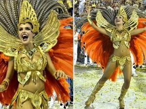 Paloma Bernardi no desfile da Grande Rio em 2015 (Foto: Roberto Teixeira/EGO)
