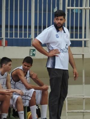 David Teles, técnico, Basquete Sub-16, Prudente (Foto: João Paulo Tilio / GloboEsporte.com)