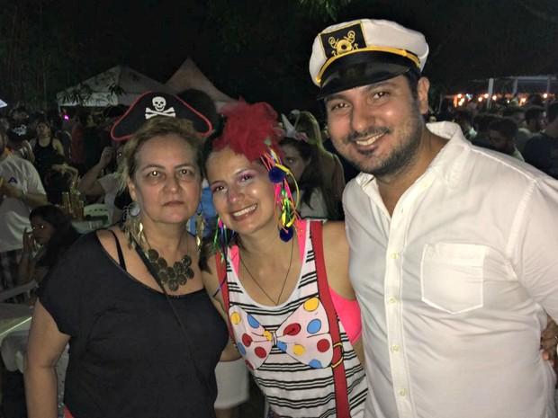 Iuri Mouco, de 34 anos, é administrador e veio com a mãe e a irmã para o Bloco do Cauxi (Foto: Rickardo Marques/G1 AM)