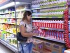 Preço do litro do leite recua e tem  queda nos supermercados em Palmas