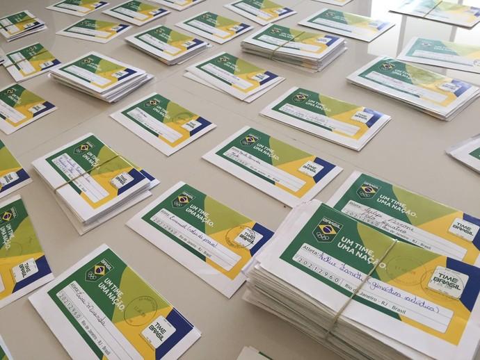 Cartas Time Brasil Rio 2016 (Foto: Divulgação)