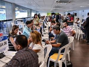 Mutirão Fiscal é realizado dentro da Arena Pantanal, em Cuiabá (Foto: Mayke Toscano/Gcom-MT)