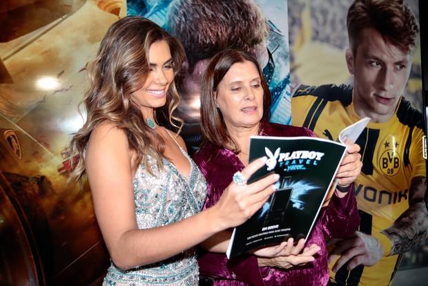 Letícia Datena e a mãe dela (Foto: Rafael Cusato/ EGO)