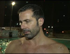 Leonardo Sotani, italiano atleta de polo aquático do Grêmio Cief (Foto: Reprodução / TV Cabo Branco)