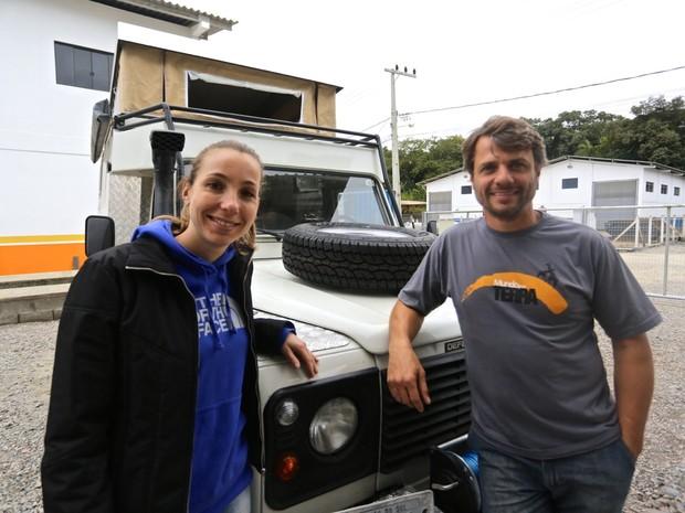 Roy e Michelle embarcou neste domingo rumo à segunda viagem (Foto: Roy Rudnick/Arquivo Pessoal)