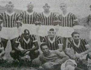 Time do Rio Branco-ES, pentacamepão em 1939 (Foto: Reprodução/Livro Rio Branco Atlético Clube - Histórias e Conquistas)