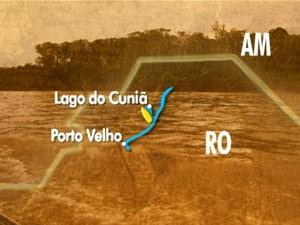 Lago do Cuniã (Foto: reprodução)
