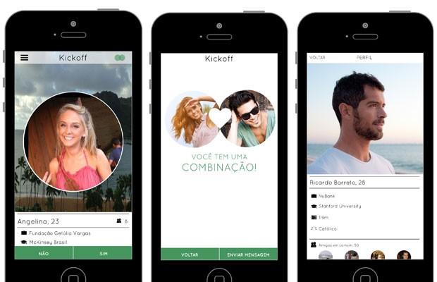 Aplicativo 'Kickoff' reúne pessoas interessdas em relacionamentos sérios. (Foto: Divulgação/Kickoff)