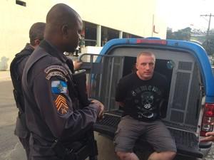 Rikardo Talinowski, ucraniano preso suspeito de envolvimento com o tráfico (Foto: Mariana Cardoso/G1)