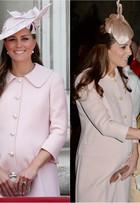Kate Middleton repete sobretudo rosa da grife Alexander McQueen