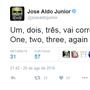 """José Aldo provoca McGregor: """"1, 2, 3, vai correr mais uma vez"""" (Reprodução / Twitter)"""