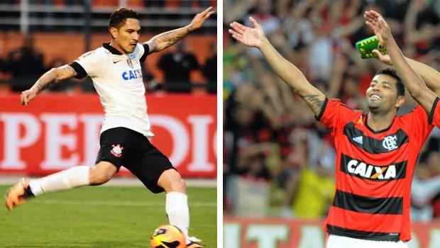 Corinthians e Flamengo é a atração do domingo na RPC TV (Foto: Marcos Ribolli/Globoesporte.com e Alexandre Vidal/Flaimagem)