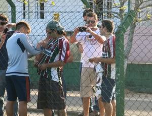 Rafael Sobis treino Fluminense Florianópolis (Foto: Edgard Maciel)