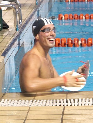 Bruno Fratus natação treino maria Lenk (Foto: Danielle Rocha / Globoesporte.com)