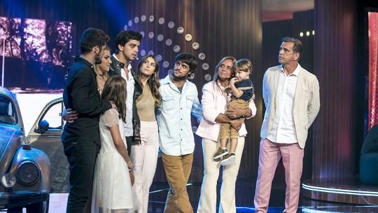 Rodrigo Simas, Felipe Simas e Bruno Gissoni vão às lágrimas em show no 'Tamanho Família'