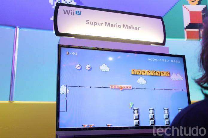 TechTudo testou Super Mario Maker na E3 deste ano (Foto: Tais Carvalho/TechTudo)