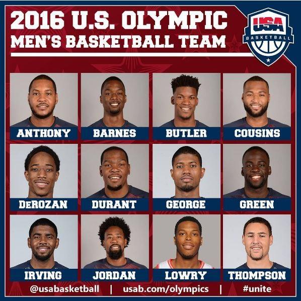 Elenco EUA USA basquete olimpíadas (Foto: Reprodução)