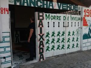 Sede da Mancha Verde fica em Praia Grande (Foto: Divulgação/Polícia Civil)
