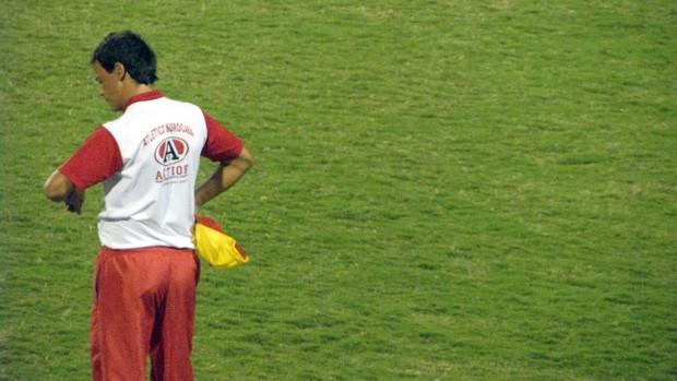 Fernando Diniz, técnico do Atlético Sorocaba, contra o Palmeiras B (Foto: Rafaela Gonçalves/Globoesporte.com)