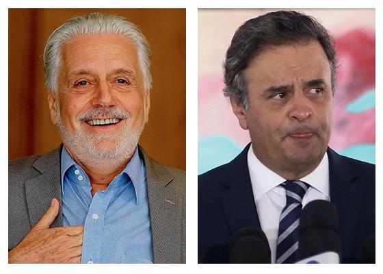 Jaques Wagner e Aécio  (Foto: Aílton de Freitas / Agência O Globo e Alan Marques/ Folhapress)