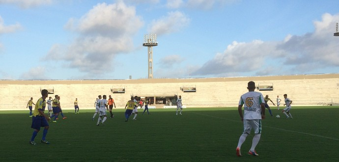 Lucena e Miramar comemoraram juntos o acesso para a primeira divisão do Campeonato Paraibano (Foto: Lucas Barros)