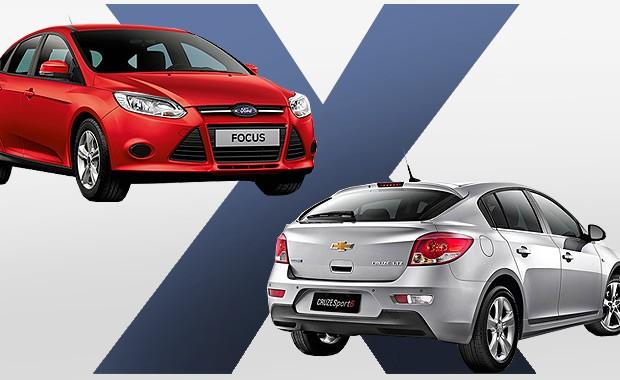 FOrd Focus ou Chevrolet Cruze: Qual comprar? (Foto: Autoesporte)