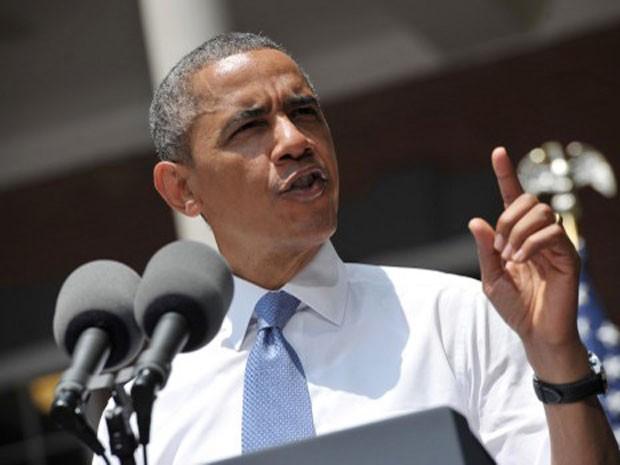 O presidente dos EUA, Barack Obama, discursa na tarde desta terça-feira (25) em Washington para anunciar Plano de Ação Climática, que prevê o corte de emissões de CO2 (Foto: Mandel Ngan/AFP)