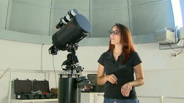 Asteroide com aneis foi observado pela equipe do Polo Astronômico (Foto: Reprodução)