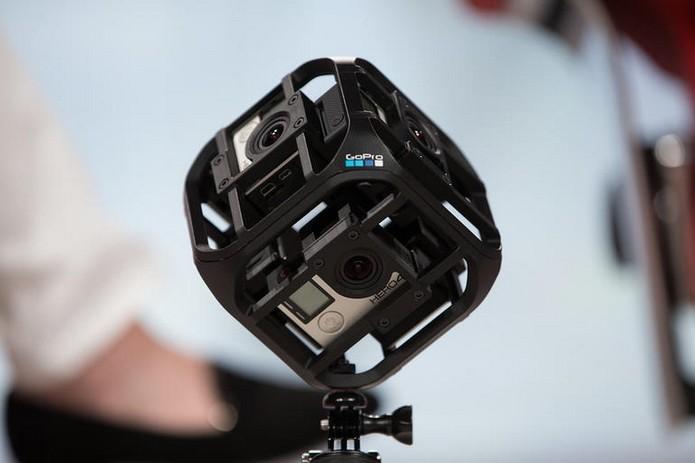 Six-Camera Spherical Array, câmera de realidade virtual da GoPro (Foto: Reprodução/Asa Mathat/ReCode) (Foto: Six-Camera Spherical Array, câmera de realidade virtual da GoPro (Foto: Reprodução/Asa Mathat/ReCode))