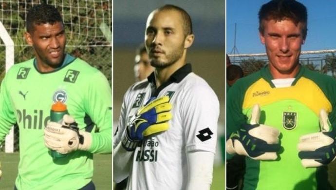 Edson, Pedro Henrique e Gatti - Vila Nova (Foto: Montagem  / GloboEsporte.com)