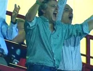 Paulo Nobre comemora gol do Palmeiras (Foto: Reprodução)