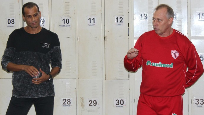 Rivaldo Ferreira Presidente Ailton Silva Treinador Mogi Mirim Sapo (Foto: Geraldo Bertanha / Mogi Mirim EC)