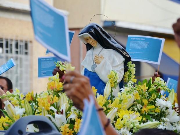 Procissão em homenagem a Irmã Dulce, em Salvador (Foto: Divulgação/Osid)