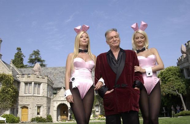 Hugh Hefner, suas coelhinhas e a famosa mansão (Foto: Getty Images)