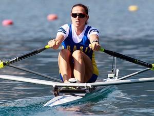 fabiana beltrame remo single skiff medalha de ouro (Foto: Agência AP)