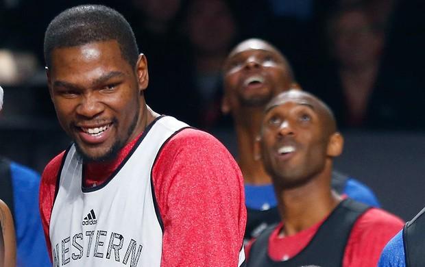 Kevin Durant no treino do All-Star game NBA (Foto: Reuters)