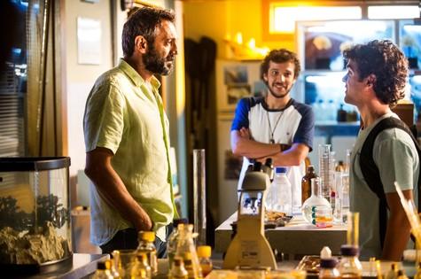 Domingos Montagner, Jayme Matarazzo e Guilherme Lobo em cena de 'Sete vidas' (Foto: João Miguel Júnior/TV Globo)