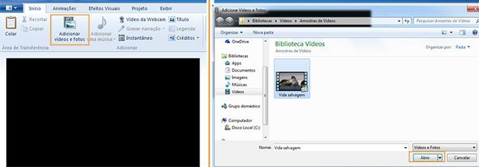 Abra seu vídeo no Movie Maker (Foto: Reprodução/Barbara Mannara)