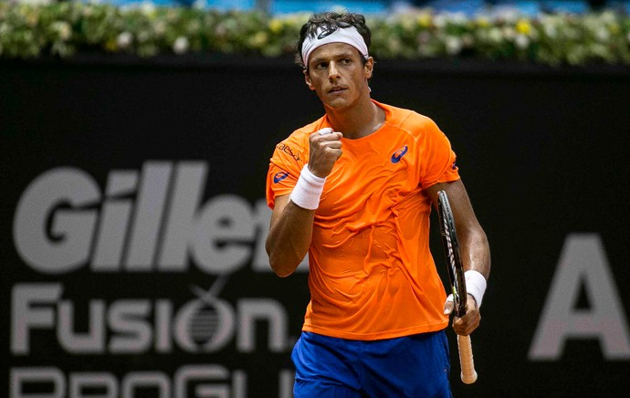 Feijão, João Souza, tênis, Brasil Open (Foto: Daniel Vorley / Brasil Open 2015.)