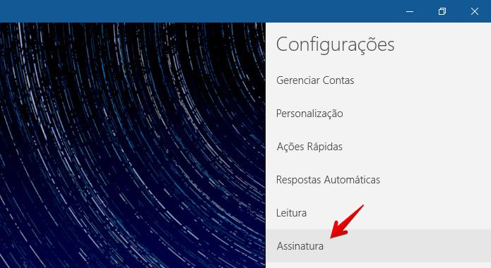 Abra as configurações de assinatura (Foto: Reprodução/Helito Bijora)