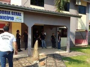 Operação investiga fraude em licitação (Foto: Polícia Civil/ Divulgação)