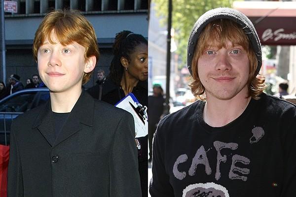 O melhor amigo de Harry Potter também cresceu: Rupert Grint tinha 13 anos quando interpretou Ron Weasley pela primeira vez. Hoje o astro tem 26 anos. (Foto: Getty Images)