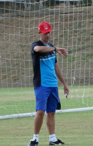 janduir lira, técnico do porto-pe sub-20 (Foto: André Ráguine / GloboEsporte.com)
