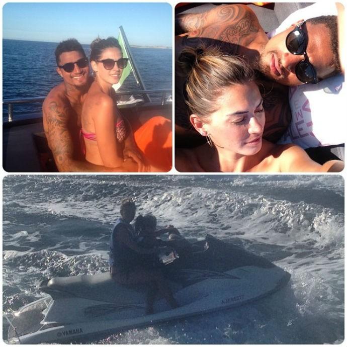 Após a Copa, Prince Boateng aproveita o tempo livre na Sardenha (Foto: Reprodução/Instagram)