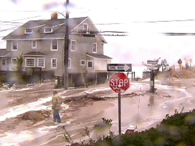Nova Jersey depois do furacão Sandy (Foto: Reprodução Globo News)